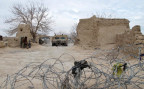 eine Patrouille der afghanischen Armee in der südlichen Provinz Helmand