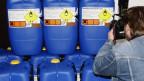 Konfiszierte Chemikalien, die für den Bombenbau genutzt werden können (Archiv).