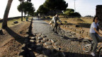 Auf diesem Weg kam das Christentum nach Europa - die Via Appia vor Rom.