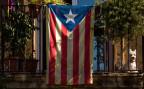 Ein Balkon in Barcelona mit der sogenannten «Estelada» Fahne - diese symbolisiert die Unabhänigkeit von Katalonien