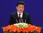 Chinas Präsident bei der feierlichen Eröffnung