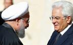 Schon zu Zewiten des Schahs war Italien einer der wichtigsten Handelspartner Irans. Bild: Der italienische Präsident Sergio Mattarella begrüsst den iranischen Präsidenten Hassan Rohani im Quirinals-Palast in Rom.