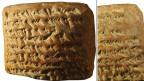 350 bis 50 v. Chr. rechneten die Babylonier auf diesen Tafeln: Zeichnungen enthalten die Tontafeln nicht, aber die Texte zeigen, dass die Fläche einer Trapez-Figur berechnet wurde.