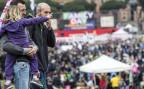 Familien mit Kindern demonstrieren auf dem Circo Massimo in Rom gegen das geplante Partnerschaftsgesetz