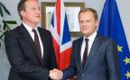 der britische Premierminister David Cameron und der EU-Ratspräsident Donald Tusk bei einem früheren Treffen in Brüssel