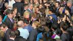 Die Favoritin der Demokraten, Hillary Clinton bei einem Besuch in der Universitätsstadt Ames im US-Bundesstaat Iowa.