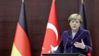 Die deutsch Bundeskanzlerin Angela Merkel bei ihrem Besuch in Ankara, Türkei.