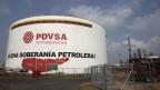 Venezuela kauft den USA Leichtöl ab - ein politisches Eingeständnis des Scheiterns.                                                     Ein Öltank der PDVSA.