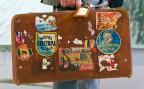 Ein Reisekoffer eines Vielgereisten (Symbolbild)