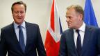 «Das ist ein entscheidener Gipfel», sagt EU- Ratspräsident Donald Tusk in Brüssel. Zwei der Knackpunkte sind die Sonderregeln für Grossbritannien und die Flüchtlingskrise.