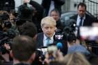 Der Bürgermeister von London vor Journalisten