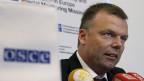 Akribisch protokollieren die Beobachter der OSZE den Konflikt zwischen den pro-russischen Separatisten und der ukrainischen Armee. Alexander Hug, Vize-Chef der OSZE-Beobachtermission.