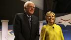 Bernie Sanders und Hillary Clinton kämpfen in den US-Vorwahlen gegeneinander