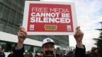Demonstration vor dem Redaktionsgebäude von «Zaman»
