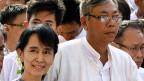 Aktive Politik war für Htin Kyaw bisher etwas für die anderen. Nun soll er aber Präsident werden. Dass er wenig Ambitionen und kaum Erfahrung hat, ist Wahlsiegerin Aung San Suu Kyi gerade recht.