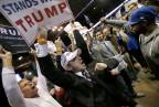 Anhänger und Gegner Trumps in Chicago