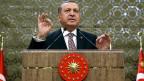 Der türkische Präsident Erdogan. In der Türkei wiederholt sich die Wiederholung.