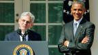 Ein Konsens-Kandidat für den vakanten Richterposten: US-Präsident Obama präsentiert seinen Favoriten für den Supreme-Court: Richter Merrick Garland.