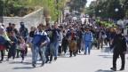 Über 500 Flüchtlinge haben das Lager auf der griechischen Insel Chios verlassen.