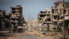 Die zerbombte Stadt Sirte im Oktober 2011. Man hat zu wenig daran gedacht, was nach Ghadafis Sturz passiert.