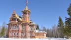 Andrej Pavlichenkovs Lebenswerk, sein Renovationsobjekt: der über 100 Jahre alte Holzpalast von Ostaschowa.
