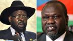 Salva Kiir, der Präsident Südsudans und sein Widersacher Riek Machar.