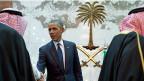 Der US-Präsident hat bereits im Januar 2015 einen Besuch beim saudischen König gemacht. Bild: Barack Obama begrüsst König Salman, am 27. Januar 2015.