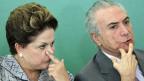 Die Nummer Zwei Brasiliens ist Michel Temer seit 2011, als Vizepräsident von Staatspräsidentin Dilma Rousseff. Er ist ein kein Mann der grossen Worte, aber ein Veteran im politischen Betrieb Brasiliens.