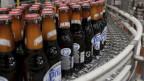 Bierflaschen in einer Polar-Brauerei in Maracaibo, Venezuela.