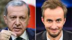 Der türkische Ministerpräsidenten Recep Tayyip Erdogan (links) und der deutsche Satiriker Jan Böhmermann.