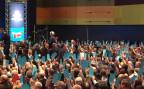 AfD Parteimitlieder stimmen ab, am Parteitag in Stuttgart