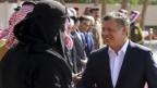 Jordaniens König Abdullah (rechts) im Januar 2016. Das Land hat Hunderttausende Flüchtlinge aufgenommen.