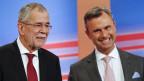 Die Kandidaten Alexander van der Bellen (links) und Norbert Hofer.