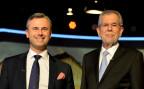 die beiden Kandidaten Norbert Hofer und Alexander van der Bellen nach ihrem letzten TV-Duell
