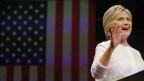 Die Demokratin Hillary Clinton erklärte sich noch in der Nacht zur Siegerin.