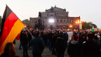 Demonstration von Pegida-Anhängern in Dresden.
