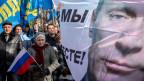Kundgebung in Simferopol, Krim.