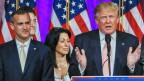 Wahlkampfleiter Corey Lewandowski (links) und US-Präsidentschaftskandidat Donald Trump (rechs).