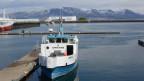 Hafenszene in Reykjavik.