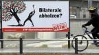 Plakat der Gegner der SVP-Volksinitiative «gegen Masseneinwanderung».