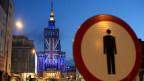 Der Kulturpalast in Warschau in den Farben Grossbritanniens vor der Brexit-Abstimmung.