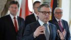 Die Aussenminister der vier Visegrad-Staaten Tschechien, Polen, der Slowakei und Ungarns und der deutsche Aussenminister Frank-Walter Steinmeier am 27. Mai in Prag.