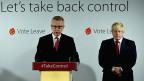 Verbündete in der «Leave»-Kampagne - und nun plötzlich Konkurrenten: Michael Gove und Boris Johnson.