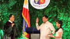 Der neue philippinische Präsident Rodrigo Duterte bei der Vereidigung.