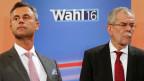 Alexander Van der Bellen (rechts) und Norbert Hofer. Beide wollen wieder antreten.