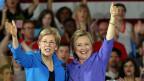 «Stronger together»? Noch ist offen, wer bei den Demokraten das Vizepräsidium übernehmen könnte. Bild: US-Senatorin Elizabeth Warren und die demokratische Präsidentschaftskandidatin Hillary Clinton.