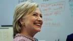 Die Empfehlung des FBI dürfte sie freuen: Hillary Clinton, demokratische Kandidatin für das US-Präsidium.