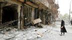 In Irak dauert der Krieg eigentlich immer noch an. Bild: Ein schiitisches Quartier in Bagdad nach einem Selbstmordanschlag am 4. Juli 2016.