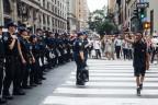 Schwarze Bürgerrechtler demonstrieren in New York