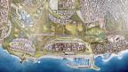 Visualisierung der geplanten Überbauung auf dem Gelände des stillgelegten Athener Flughafens Elliniko. Die gigantische Überbauung weckt Hoffnungen und schürt zugleich Ängste.